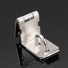 Durable Stainless Steel Hasp Latch And Staple Gate Anti-theft Door Shed Latch Lock For Padlock Household Safety 90 Degree