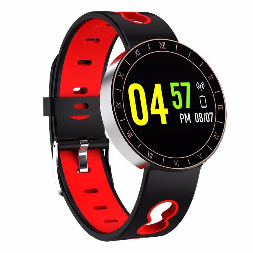 Bellissimo A8 Braccialetto Intelligente Inseguitore Di Fitness Impermeabile Heart Rate Monitor Misuratore Di Pressione Sanguigna Intelligente Wristband Silver & Red