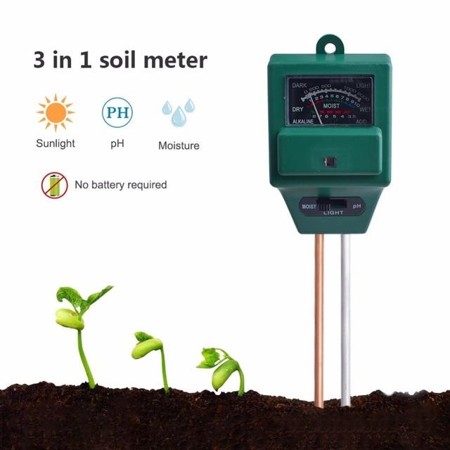 3 в 1 завод цветы ph-метр для почвы измерение влажности Измеритель влажности света гидропонный анализатор детектор для сада гигрометр
