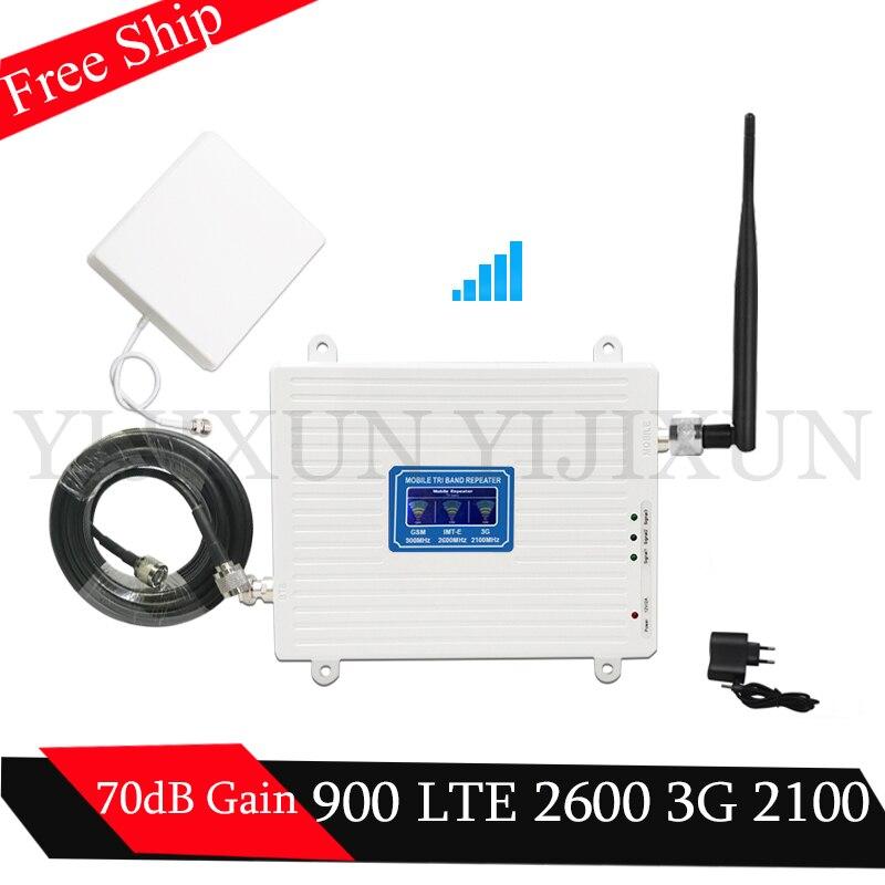 2g 3g 4g GSM répéteur 900 2100 2600 GSM WCDMA LTE 2600 4G amplificateur de réseau Mobile GSM 3G 4G LTE 2600 répéteur 4G