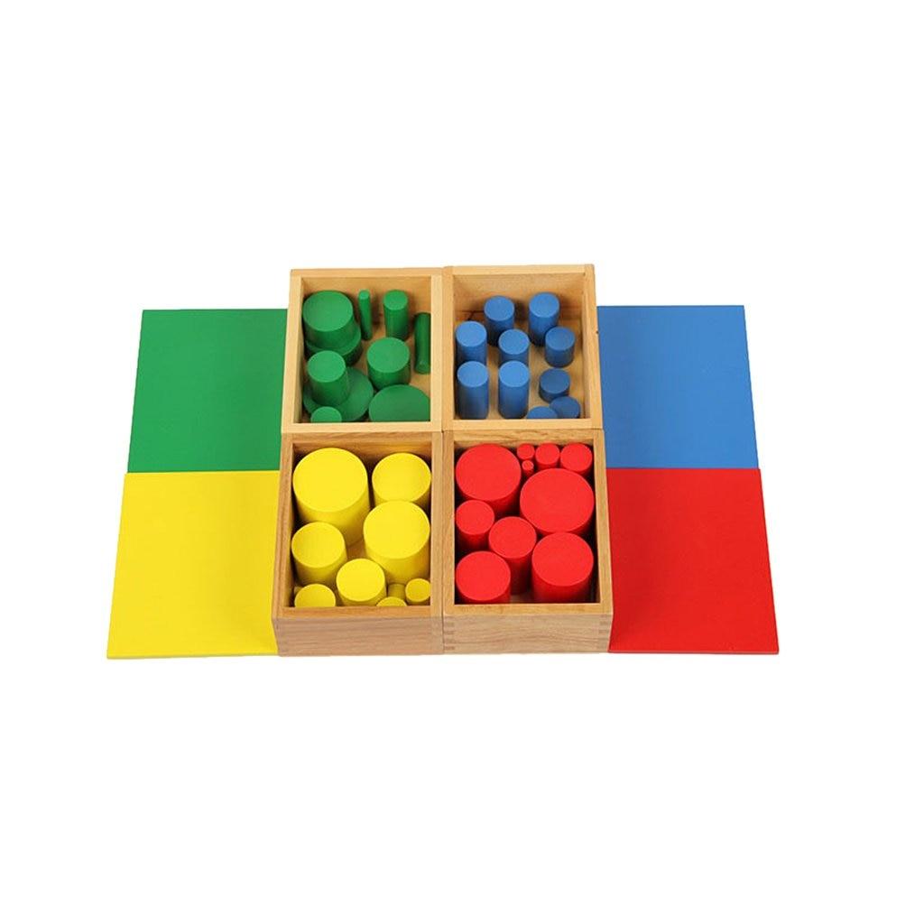 Montessori Material Sensory Sense Visual Training 40 Cylinders Education Awakening Toy kindergarten Preschool for Kids Baby