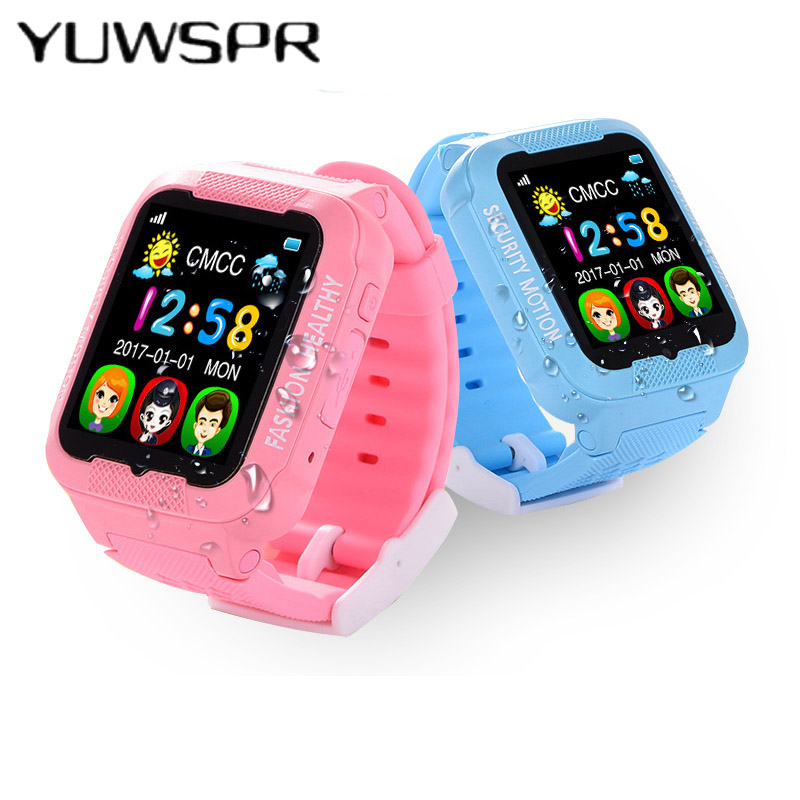 Watch Tracker Waterproof Baby Kids Safe SOS Anti-Lost Camera Location Touch-Screen K3