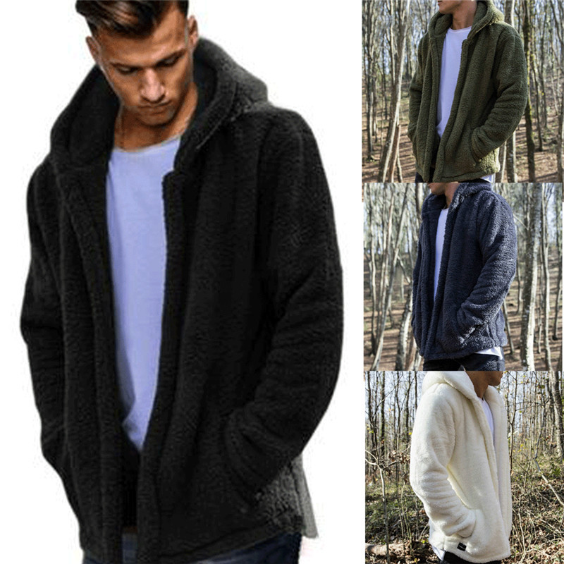 HIRIGIN Newest Men's Winter Slim Casual Warm Hooded Coat Men Jacket Fleece Outwear New Snow Thick Suit Clothes