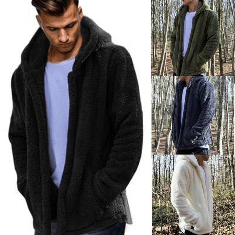 HIRIGIN Newest Men's Winter Slim Casual Warm Hooded Coat Men Jacket Fleece Outwear New Snow Thick Suit Clothes