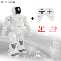 News DEVO Robot Smart RC Robot Programmable Infrared Gesture Control Dance LED Expression Robot For children Gift Adults Toys