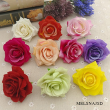 Melsnajsd 2pcs 8 cm Artificial Rose Silk Flower Heads For Wedding Decoration DIY Wreath Gift Box Scrapbooking Craft Fake Flowers