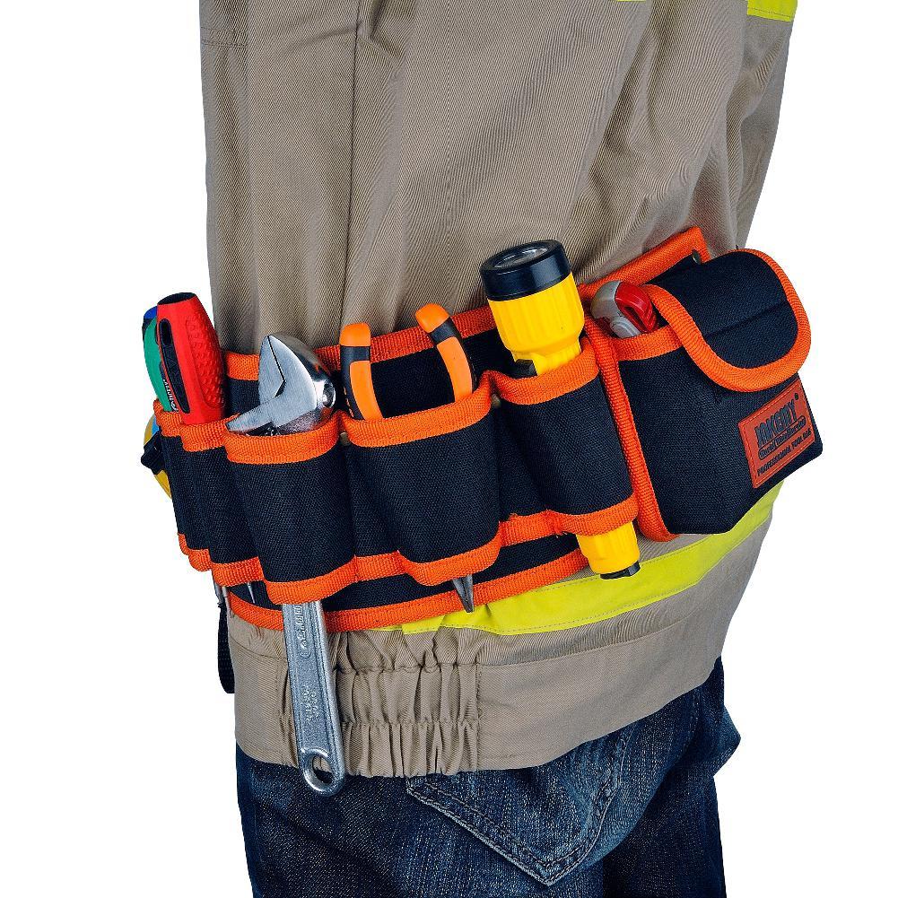 Adeeing JM B04 Mecânica de Hardware Eletricista maleta de Ferramentas Da Lona Cinto Kit Utilitário Bolso Pouch Organizer Bag Laranja Preto|Bolsas ferramenta| |  - title=