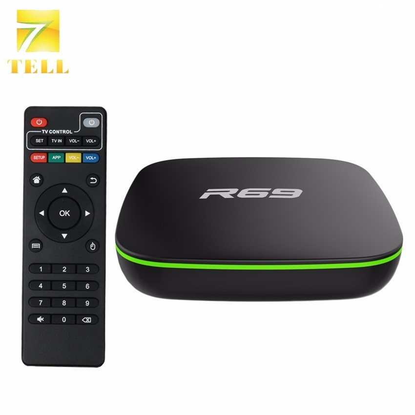 10PCS R69 2GB 16GB TV BOX Android 7 1 Smart Allwinner H3 Quad Core 2 4G
