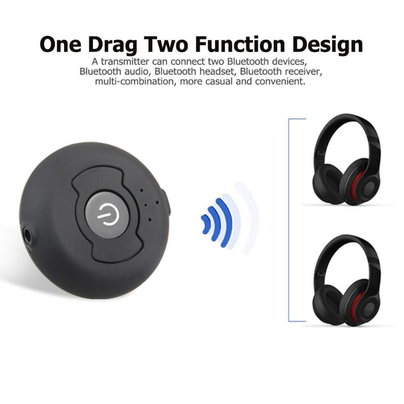 ALLOYSEED Multi-point Wireless Bluetooth Adapter Dongle Bluetooth 4.0 Stereo Audio Music Transmitter For PC HDTV DVD MP3 Speaker