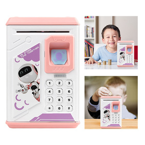 Image 3 - 貯金箱貯金箱現金コイン電子指紋 ATM パスワードコインマネーセービング箱ジャー収納ボックス子供のための誕生日ギフト