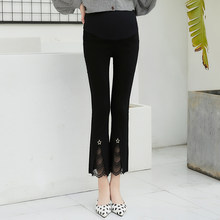 9cfa0e3dfdc286 2019 hot selling pregnant women spring and autumn's abdomen pants mother  flared trousers office lady formal work boot cut pants