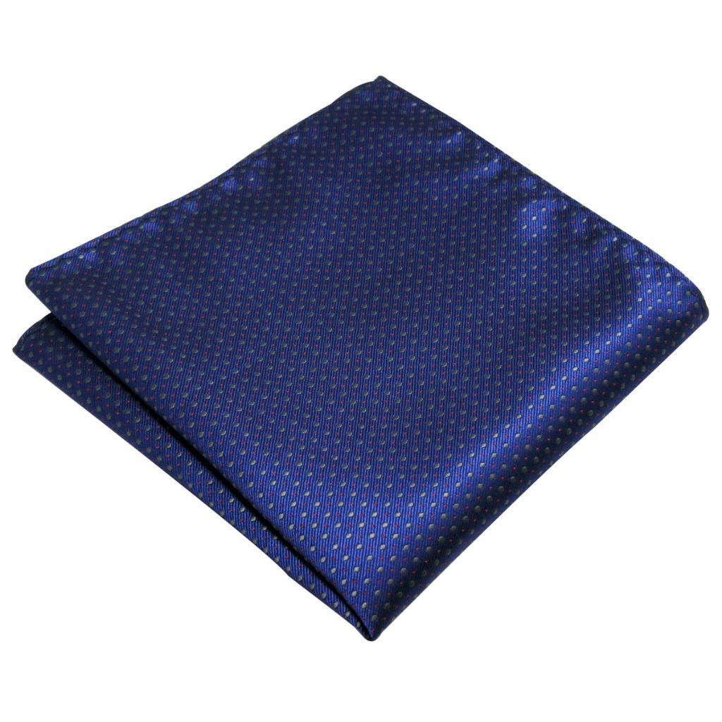 YH06 Royal Blue Dots Fashion Classic Handkerchief Silk Dress Hanky Mens Pocket Square Handkerchief