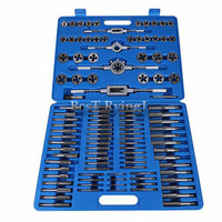 Y1G 110PCS/Lot M2 M18 Screw Nut Thread Tap & Die Tool Set with Wrench Handle Heavy Duty Hand Tool Kit Accessory