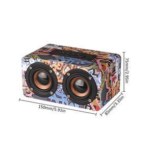 Image 5 - Graffiti Wooden Player Wireless Bluetooth Speaker Desktop Home Audio Street Dance Fashion Audio Stereo Hd Hifi Sounds Devices