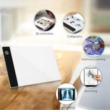 LED A5 Digitale Tabletten Licht Box Grafik Tablet Schreiben Malerei Dimmbare Helligkeit Tracing Board Kopie Pads Digitale Zeichnung
