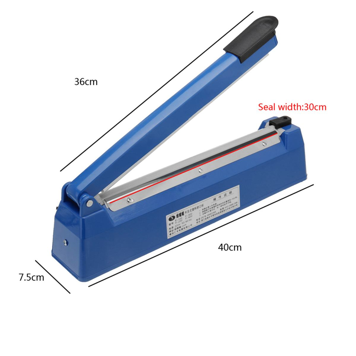 200mm to 300mm High Temperature Resistant Electric Vacuum Food Sealer with Excellent Cooling Base to Keep the Food Fresh 4