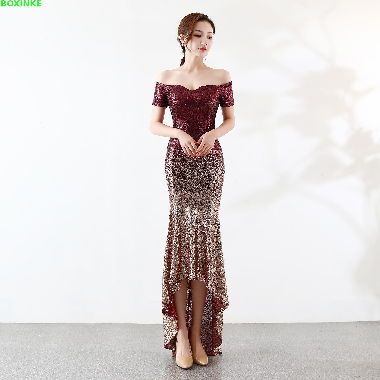 Lanon jujube 2019 Empire La Et Nouveau Robe Plus Européenne Parti Blue Red Vadim Mujer Épaule Américaine Pour Perspective Tibetan Style Taille Sexy Banquet OZkuPXi