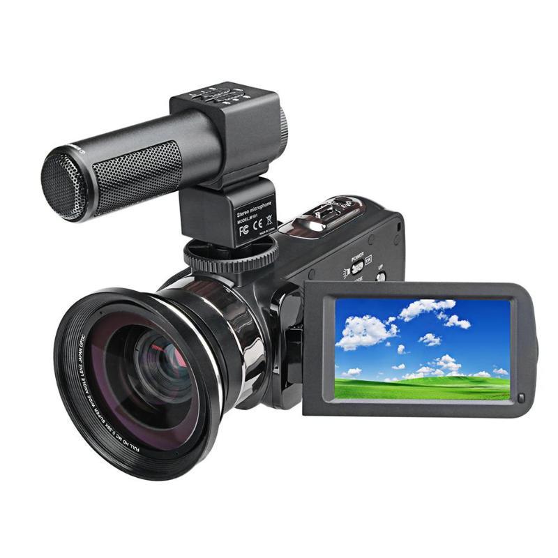 P13 4 K 2160 P 48MP HD caméra numérique avec micro télécommande vidéo 16X Zoom Webcam + sac DV + micro + lumière de remplissage + objectif grand Angle