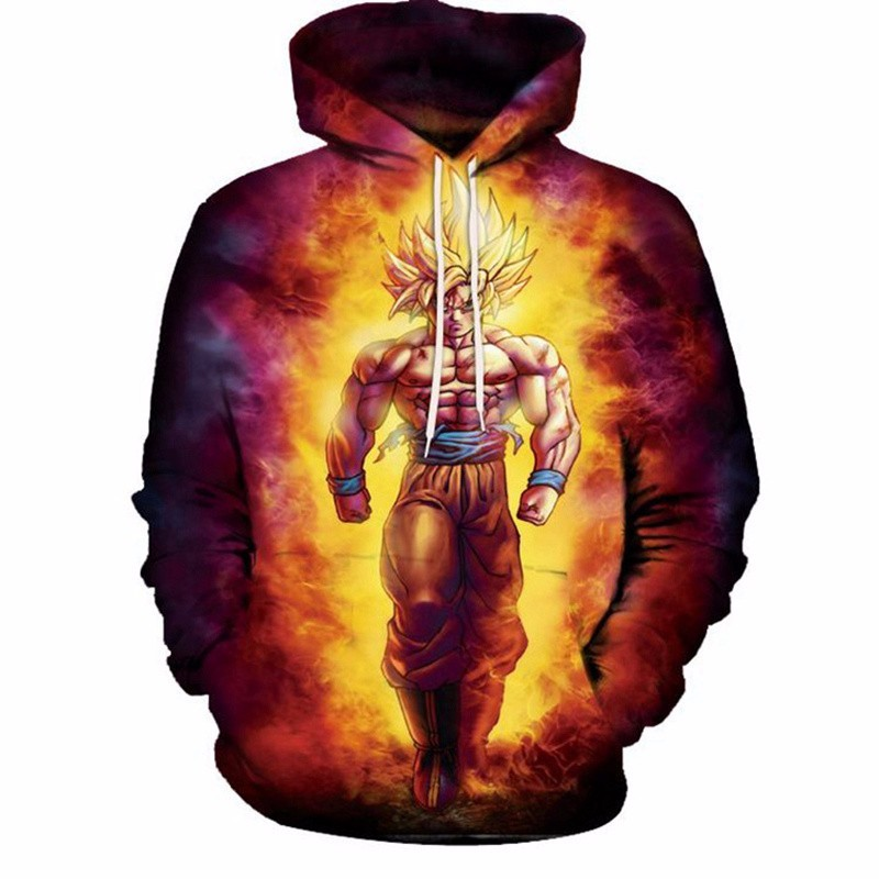 2019 Anime Dragon Ball Goku Hoodies 3D Printed Streetwear Harajuku Long Sleeve Hooded Sweatshirt For Men And Women Plus Size 5XL