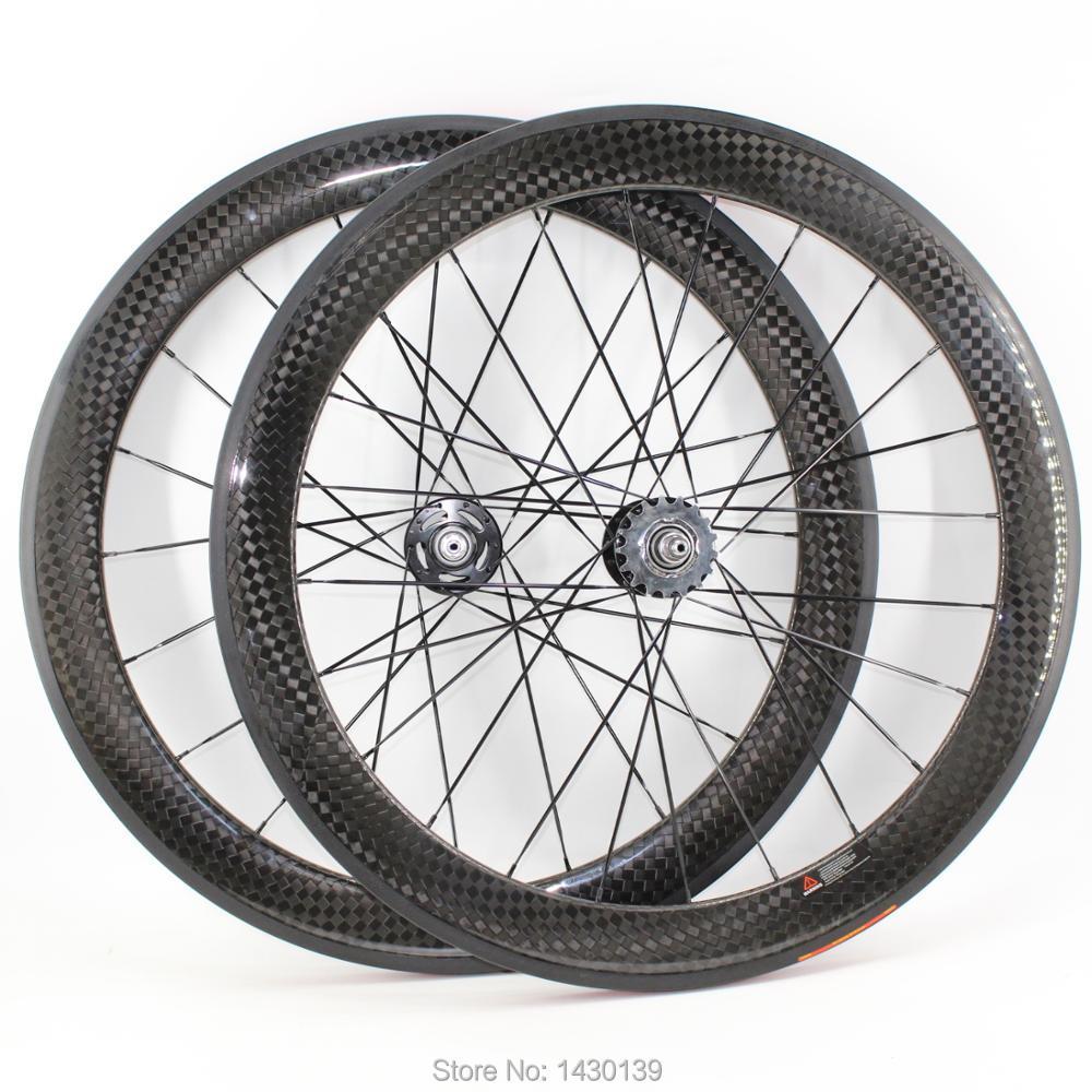 最新 700C 60 ミリメートル固定ギアバイクグロスマット 12 3k フルカーボンファイバー自転車ホイールセットクリンチャーチューブラーリム 23 25 ミリメートル幅無料船  グループ上の スポーツ & エンターテイメント からの 自転車の車輪 の中 1