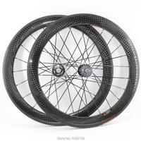 Neueste 700C 60mm Fixed gear bike glanz matt 12 K volle carbon faser fahrrad laufradsatz klammer tubular felgen 23 25mm breite Freies schiff-in Fahrrad-Rad aus Sport und Unterhaltung bei