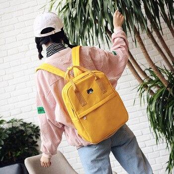 2019 new arrival shoulder bags Fashionable double-shoulder canvas student bookbag leisure travelling bag men women backpack фото