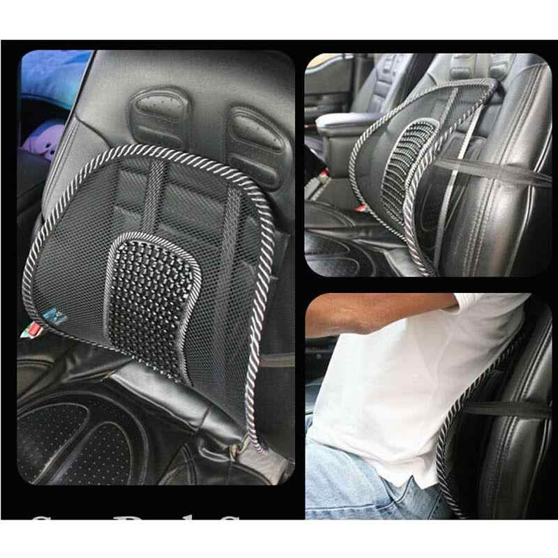 Tela de malla asiento de coche negro cojín Lumbar soporte de cintura Lumbar almohada automóviles silla de oficina alivio de dolor de espalda accesorios de automóvil