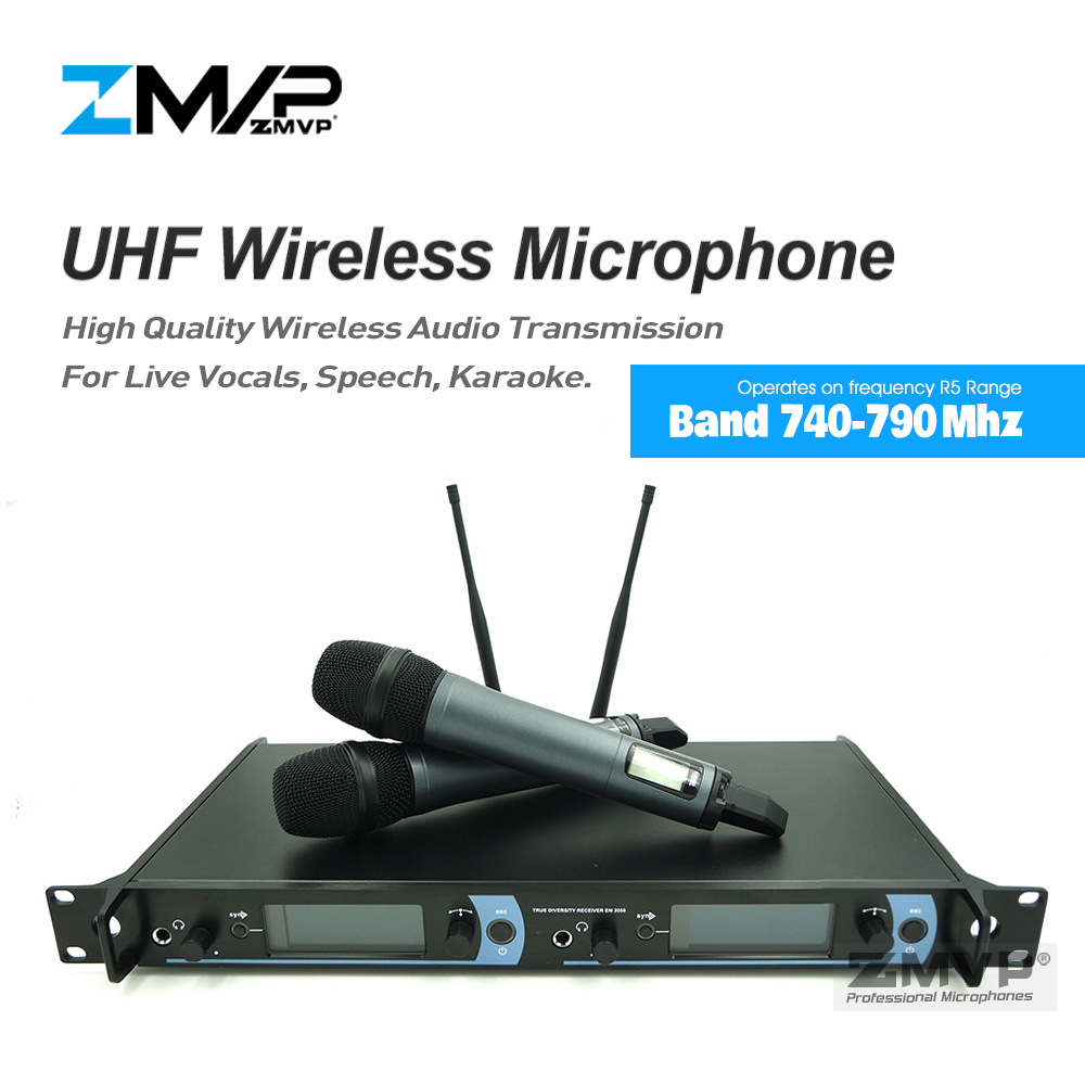 Free shipping! 2050 Professional UHF Wireless Microphone Karaoke System with Dual 845 Handheld Transmitter Microfone Mike Mic free shipping professional uhf bx288 p 58 karaoke wireless microphone system with dual handheld microphone cardioid transmitter