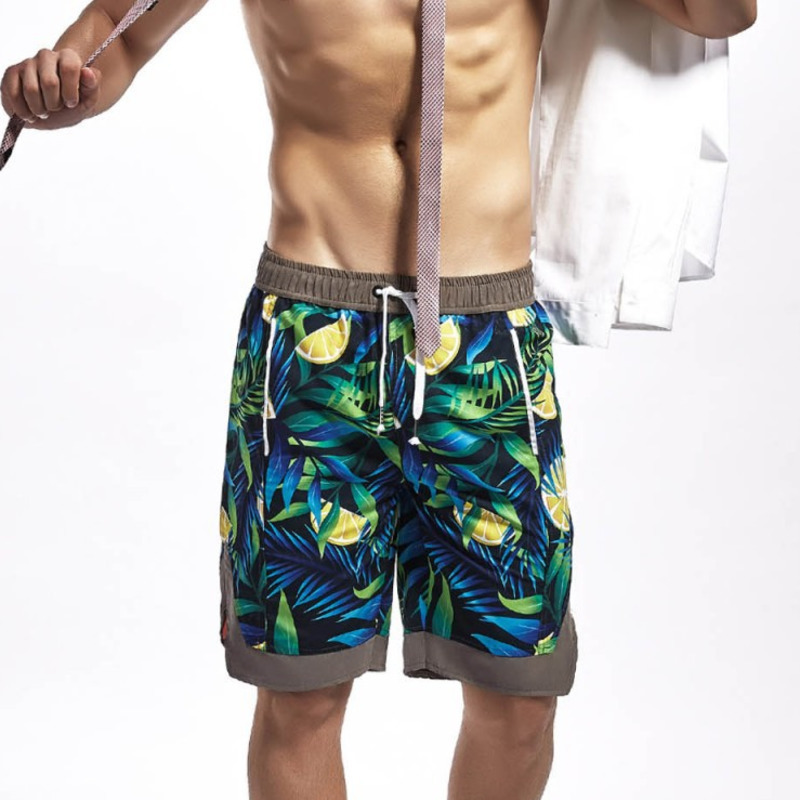 2019 Floral   Board     Shorts   Men Boardshorts Beach Swim   Shorts   Swimwear Mens Swimming   Short   Trunk Surf Bathing Suit Water Sport Wear