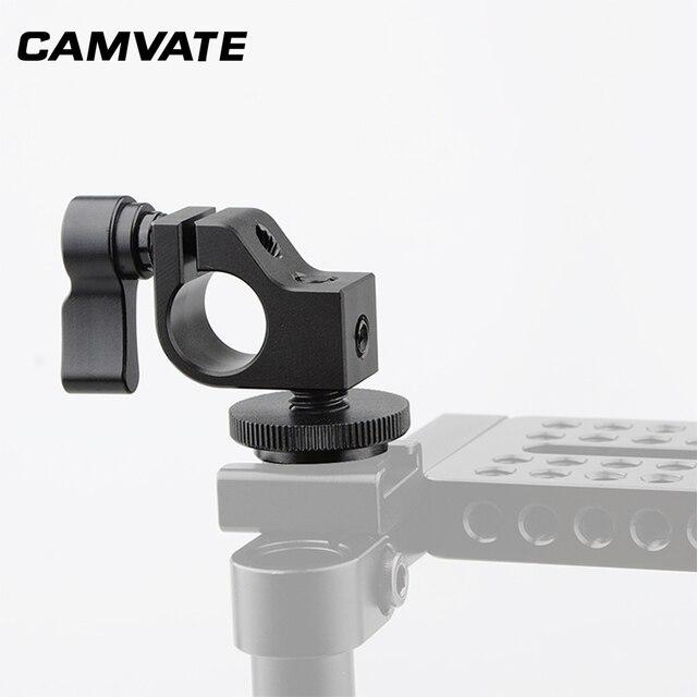 CAMVATE Standard Einzel Rod Clamp 15mm Schiene Stecker Adapter Mit Heißer/Kalten Schuh Halterung Für DSLR Camer Fotografie zubehör