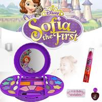 Disney Sophia Princess Children's Makeup Box Toy Set Mini Portable Party Cosmetics Tool Play House Suit with Eyeshadow Rouge