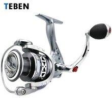 Teben GTS Model 8BB Saltwater Spinning Reel 2000 3000 4000 Ratio 5.2:1 Metal Handle Drag Power 4.5 To 9 Kg Carp Fishing