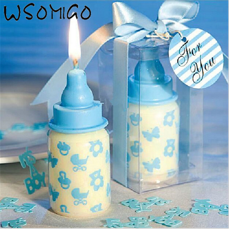 Лидер продаж, 1 шт., синяя/Розовая мини-свеча в бутылочке, топпер для торта, для детского дня рождения, детская Свеча «сделай сам», украшение д...