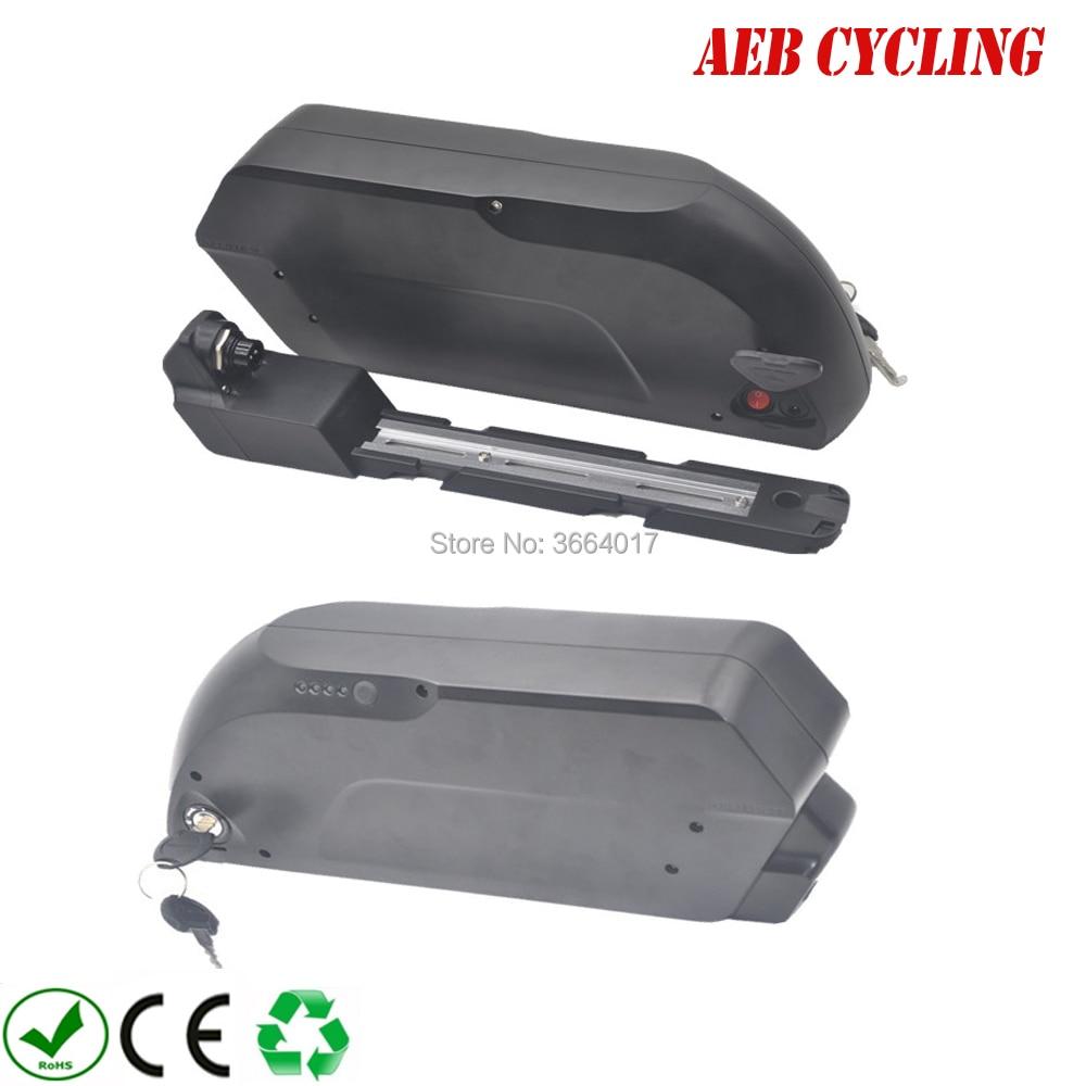 Free shipping Tiger shark down tube ebike battery case 65 Pcs 18650 cells ebike battery shark case for mountain bike