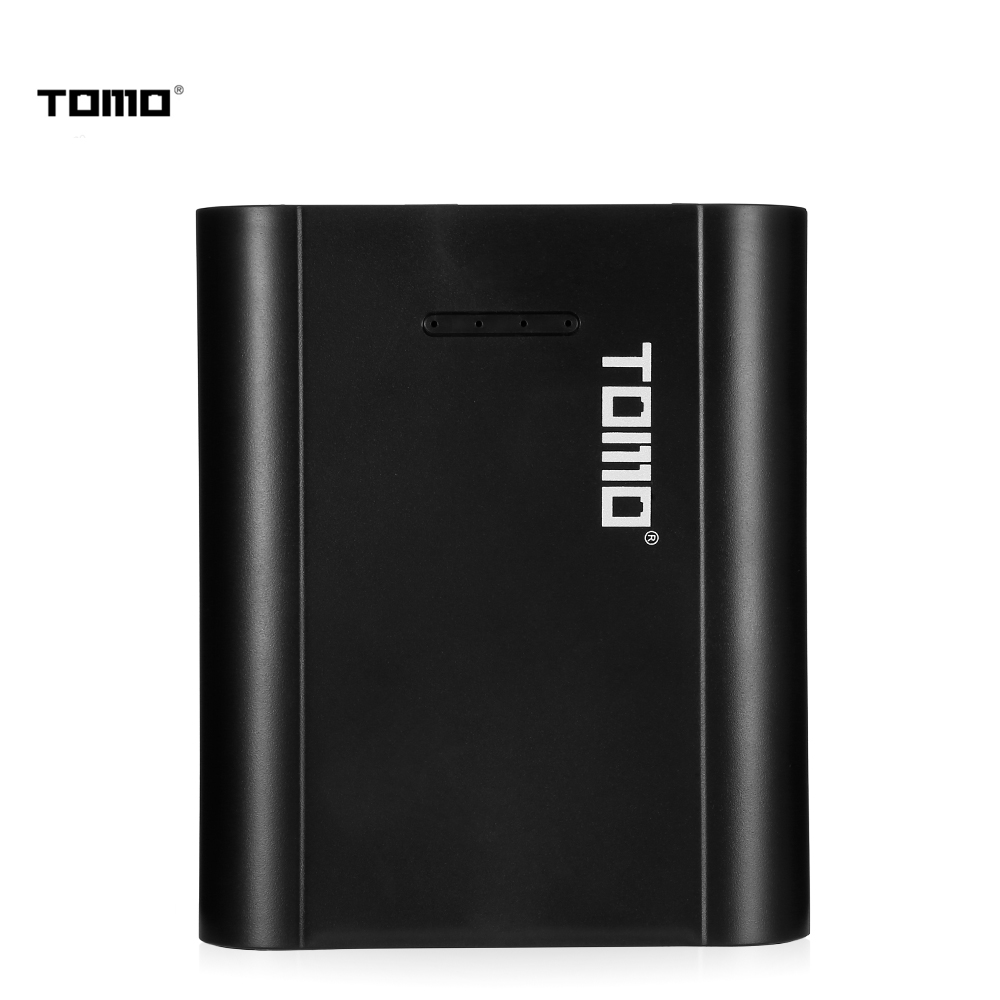 TOMO P4 Power Bank Dual USB Charger Case for 18650 Li ion Battery