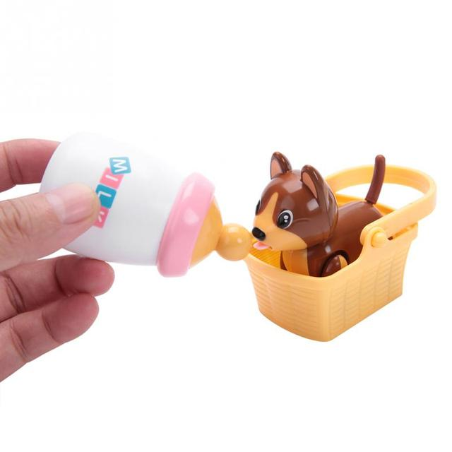 Cute Induction Puppy Cat Nurse Suckle Toys Interactive Baby Pet Toy Inductively Suckling Electric Pet Children Educational Toy