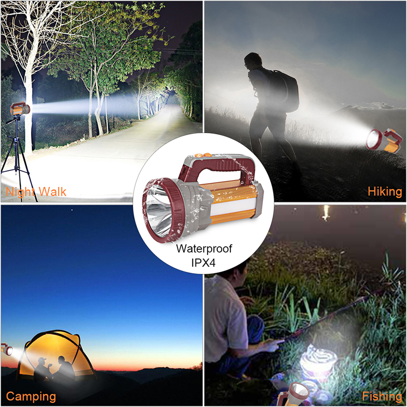 Portable Multi function Torch Handheld for Camping 9000mAh LED Flashlight Hunting for Outdoor Spotlight Shots Lamp in Flashlights Torches from Lights Lighting