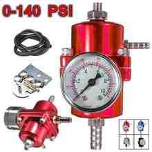 Черный синий красный серебристый 0-140PSI универсальный автомобильный регулятор давления топлива с манометром Регулируемый регулятор давления масла
