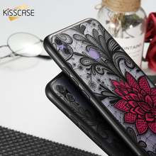 KISSCASE 3D Embossed Black Red Rose Case For Samsung Galaxy A5 A7 A3 2017  Flower Case For Samsung A8 Plus A6 A8 A6 Plus 2018 plating diamond bling case for samsung galaxy a8 a7 a6 2018 plus metal ring stand case cover for samsung a6 plus a8 plus