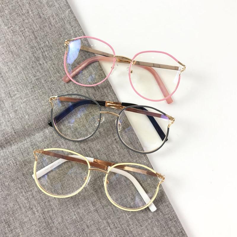 Metal Eyeglasses Frame Lens-Eyewear Clear Round-Style Sexy Women Fashion Oculos-De-Sol