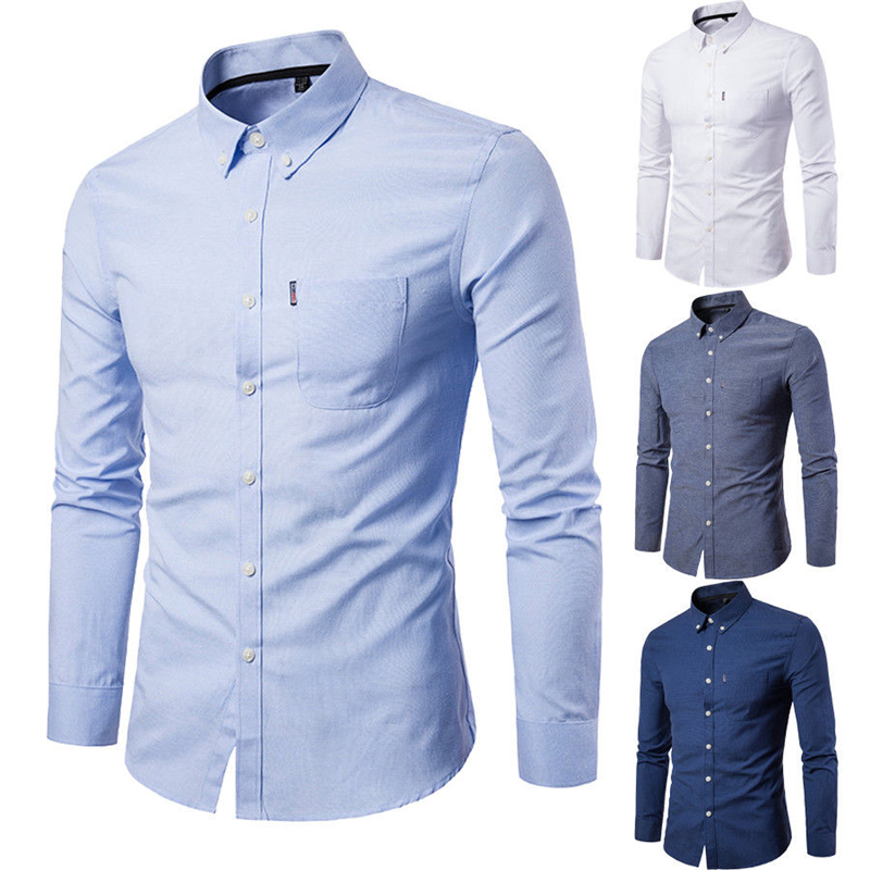 2019 neue Mode Marke Camisa Masculina Langarm <font><b>Shirts</b></font> <font><b>M</b></font>änner Slim Design Formal Casual Male Kleid <font><b>Shirt</b></font> Größe <font><b>M</b></font>-3XL image