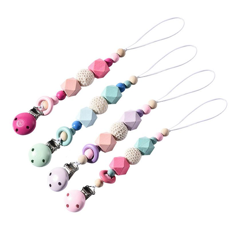 Baby Silicone Pacifier Clip Colorful Pacifier Chain for Baby Teething Soother
