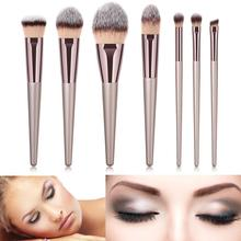 7 Makeup Brushes Foundation Brush Set Tools Lip x Brushes  Nylon Wood Set Eyeshadow 1 Kit Cosmetic Makeup Casual недорого