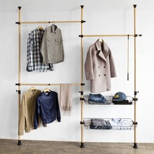 Clothes Rack Telescopic Wardrobe Organiser Hanging Rail Adjustable Storage Shelving SoBuy FRG106