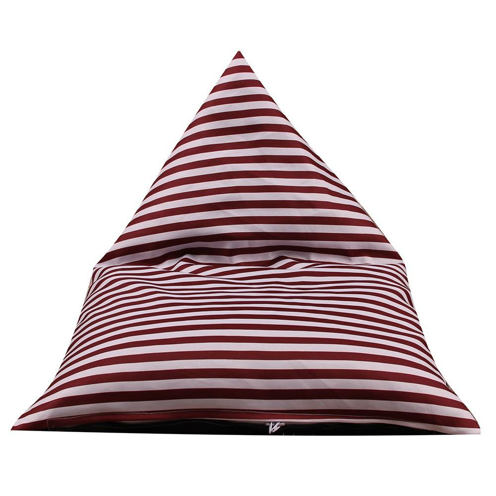 Image 3 - Storage Bean Bag Large Chair Stripe Pouch Chair Sofa Stuffed Toy Storage Bag Back Support-in Bean Bag Sofas from Furniture