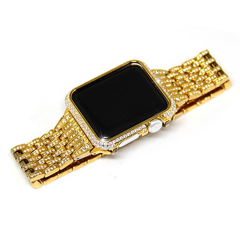 38-42mm Bracelet For Apple Watch Series 4 1 2 3 Crystal Rhinestone Diamond Watch Band Luxury Stainless Steel Strap iWatch Bands38-42mm Bracelet For Apple Watch Series 4 1 2 3 Crystal Rhinestone Diamond Watch Band Luxury Stainless Steel Strap iWatch Bands