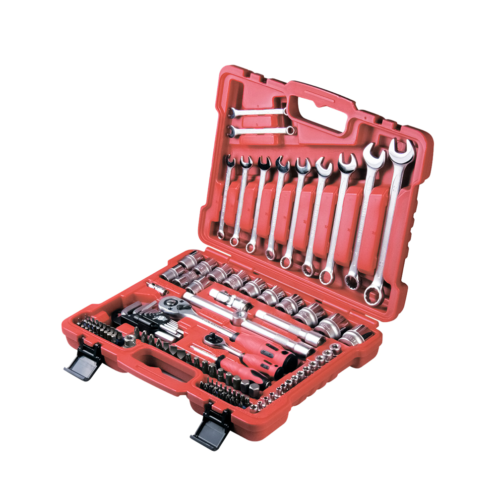 Hand Tool Sets MATRIX fitting and assembly with squares 1/4, 1/2 and 5/16 , 112 items 13586 two squares page 1