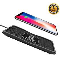 전문 qi 무선 빠른 충전기 자동차 전화 홀더 아이폰 xs 최대 xr에 대 한 비 슬립 패드 매트 마운트