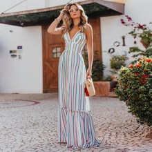 2019 Women Summer High Waist Dress Sexy Elegant Chiffon Dress V Neck Beach Maxi Long Dress cuerly sexy see through burgundy lace dress women summer high waist v neck dress elegant maxi long dress vestidos