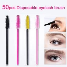Kimcci 50Pcs Disposable Eyelash Brushes Eyebrow brush Mascar